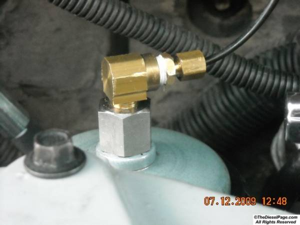 FUEL PRESSURE TAP for GAUGES TheDieselPage com Forums